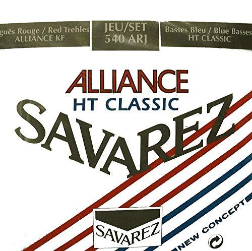 Savarez - Cuerdas para Guitarra Clásica Concert Alliance HT 540ARJ Juego Tensiones Mezcladas Rojo/Azul (Standard/Alta)