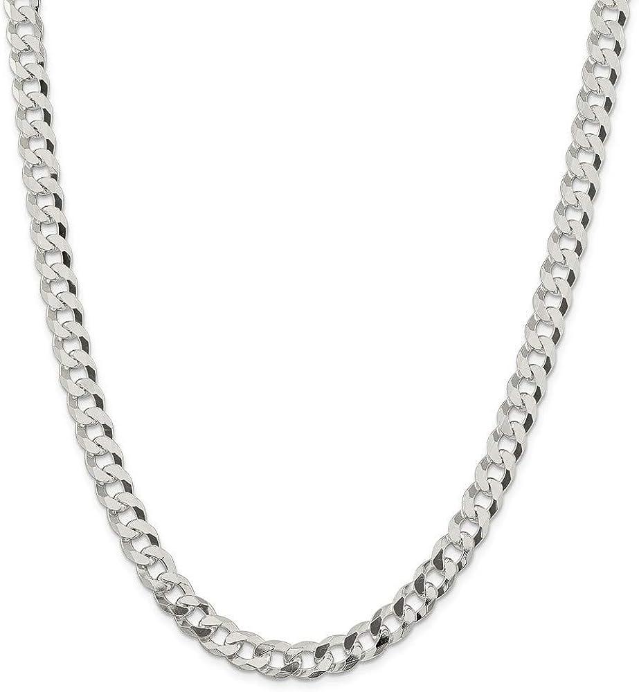 925 値引き Sterling Silver Beveled Curb ☆送料無料☆ 当日発送可能 fo Gifts Jewelry Chain Bracelet