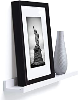 Wallniture Denver Wall Mounted Photo Ledge and Floating Shelf for Chic Home Décor, Wall Hanging Bookshelf, 22 Inch, White