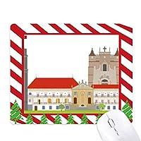 ポルトガルコインブラナショナルランドマークビル ゴムクリスマスキャンディマウスパッド