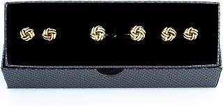 MRCUFF Knot Cufflinks and Studs Tuxedo Set in a Presentation Gift Box & Polishing Cloth