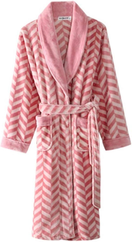 NAN Liang Women's Luxury Soft Cotton Bath Robe Housecoat Dressing Gown Bathrobe with Belt, Knee Length Soft (Size   XXL)