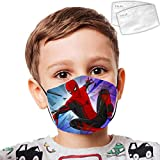 Cellova Unisex Kids Face Covering S-Pider-Man Reusable Auti for Boys and Girls -Color09-OneSize
