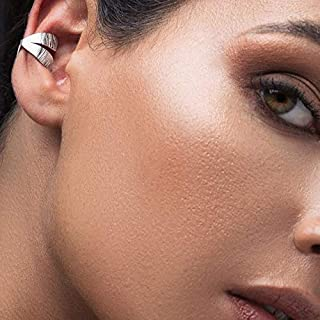 Aretes de plata del abrigo del oído, puño pendiente, rosa de oro oreja puño no piercing oreja de plata puño no perforado aretes brazalete de oído minimalista brazalete