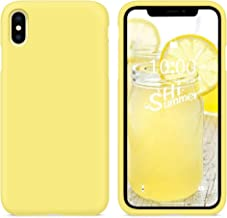 SURPHY Silicone Case Compatible with iPhone Xs Case iPhone X Case 5.8 inches, Liquid Silicone Phone Case (with Microfiber ...