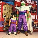 2Pcs/Set Dragon Ball Z Gohan & Piccolo Battle Cloakd Ver. Bick Brush Goku Saiyan PVC Figure DBZ Collection Model