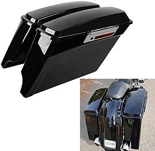 """Best TCMT 5"""" Hard Saddle Bags Extended Saddlebag Trunk + Lid Latch Keys Fits for Harley Touring FLH FLT Electra Glide Road King Ultra Street 1993 1994-2013 Review"""