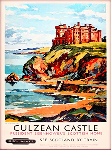 A SLICE IN TIME Culzean Castle Scotland Great Britain British Railways Vintage Railroad Travel Home Collectible Wall Decor Advertisement Art Poster Print. 10 x 13.5 inches