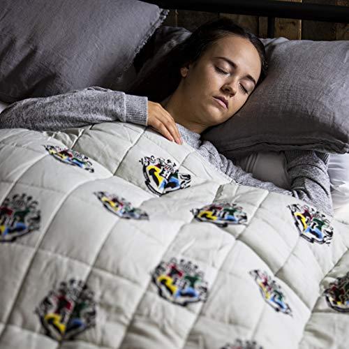 Rest Easy Sleep Better HPRRSRBL001UKE Easy Harry Potter gewichtete Decke für Schlaf, Stressabbau und sensorisch beruhigende Decke für tollen Schlaf, 100% weiche Baumwolle (3 kg, Harry Potter)