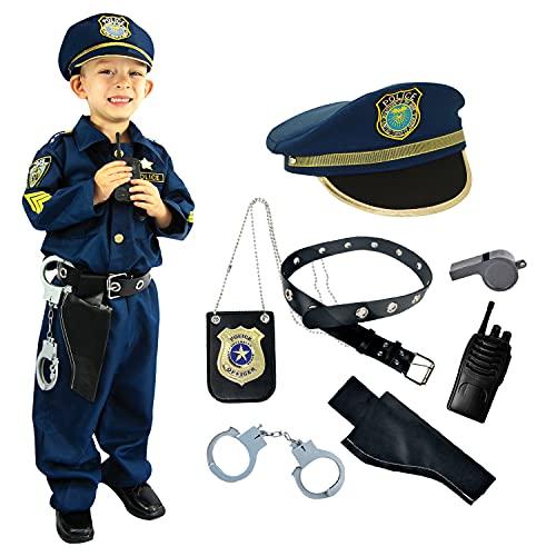 Spooktacular Creations Polizei Kinder Kostüm für Fasching Karneval Polizist Rollspiel