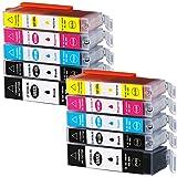 10 cartucce di ricambio per Canon PGI-580/CLI581 XXL TR8550 TS6150 TS6151 TS6250 TS8150 TS8151 TS8152 TS8250 TS9150 TS9155 TS9550 TR7550