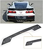 Extreme Online Store Replacement for 2014-2019 Chevrolet Corvette C7   Z06 Z07 Stage 3 Style Rear Trunk Center Wickerbill Spoiler (Smoke Tinted)