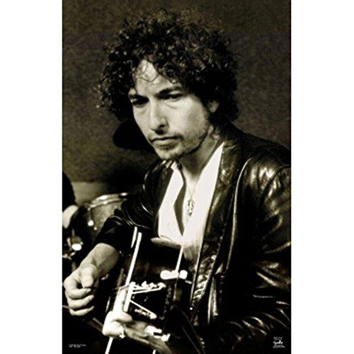 Bob Dylan Poster 24x36 Playing Guitar Folk Rock 9017
