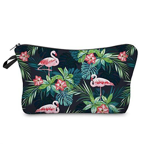 Travel toilettas draagbare lichtgewicht waterdichte waszak voor cosmetische scheren opbergtas (Flamingo)