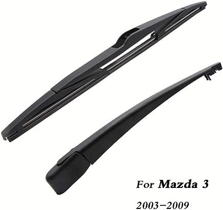 SLONGK Escobillas del Limpiaparabrisas Trasero del Coche Volver Parabrisas Brazo del Limpiaparabrisas, para Mazda 3