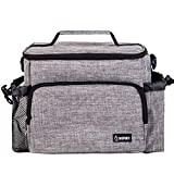 Inspirit Insulated Lunch Bag - Womens Lunch Box, Mens Lunch Boxes for Work, 14-Can Insulated Lunch Box, Lunch Bags for Kids, Adult Lunch Bag, Gray