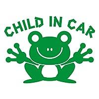 imoninn CHILD in car ステッカー 【パッケージ版】 No.22 カエルさん (緑色)