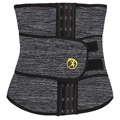 YiXing Entrenador de cintura para hombre, de neopreno, para modelar, modelar, cinturón para pérdida de peso, corsé de entrenamiento para gimnasio, faja (color: camuflaje gris, tamaño: XL)