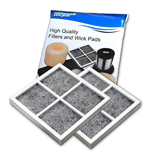 HQRP 2-Pack Air Filter works with LG LFCS31626S LFX32945ST LFXC24726S LFXS30726B LFXS30726S LFXS30726W LMXC23746D LSFD2491ST Refrigerator
