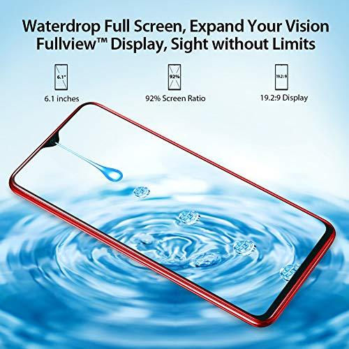 Blackview A60 Smartphone ohne Vertrag Günstig 15,49 cm (6,1 Zoll) HD+ Display, 4080mAh Akku, 13MP+5MP Dual Kamera, 16GB ROM, 128 GB erweiterbar Dual SIM Android Einsteiger Handy - Deutsche Version - 2