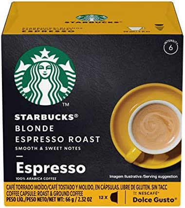 Starbucks Coffee by Nescafe Dolce Gusto Starbucks Blonde Espresso Roast Coffee Pods 12 capsules product image