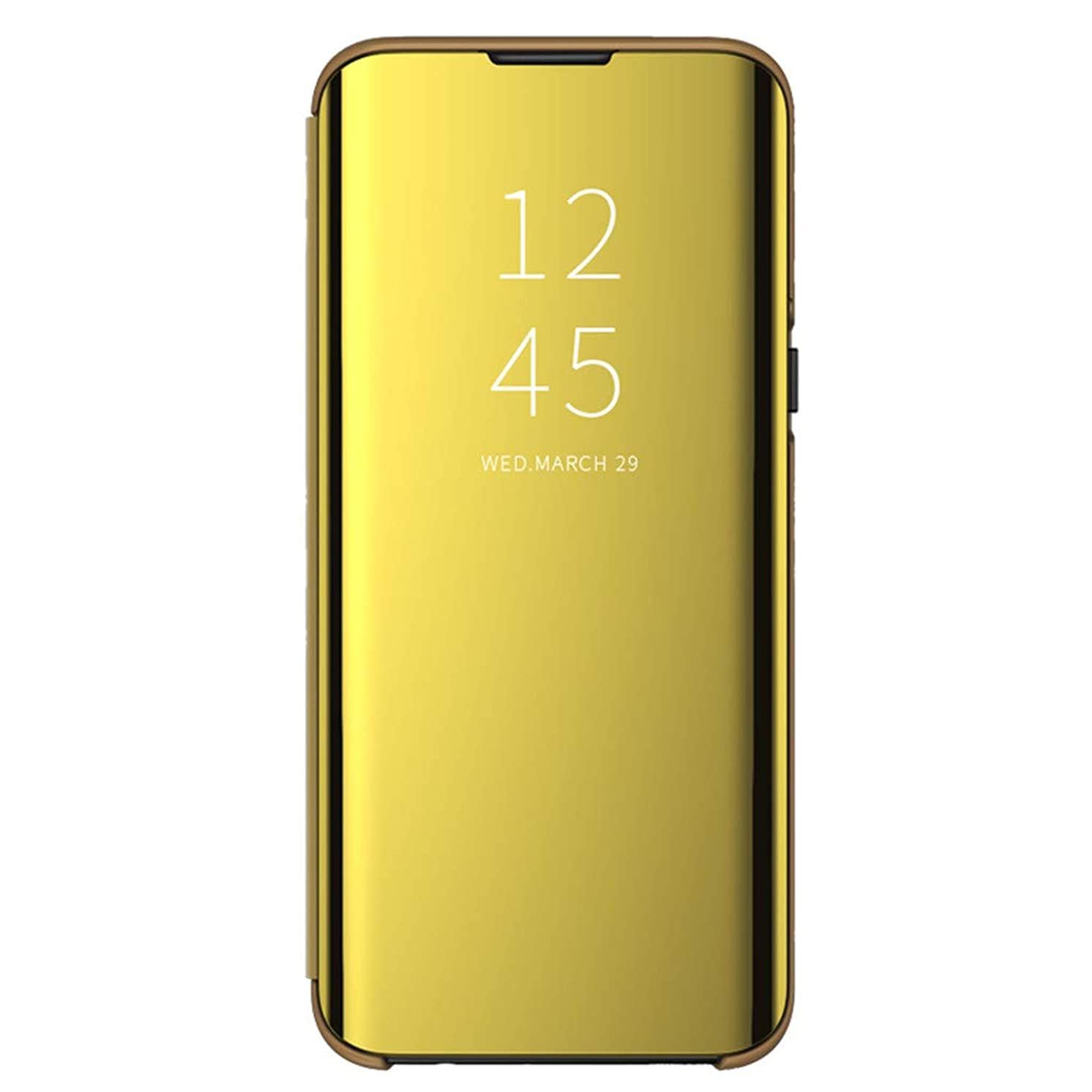 Kariwell Smart Flip Stand Case Cover - Luxury Smart Sleep Wake UP Flip Leather Case Cover for Samsung Galaxy S10 6.1inch (Gold)