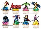 """Kuchen-, Backwarendekoration aus Esspapier mit Motiv """"Marvel Super Heroes Avengers"""", 30 Stück"""