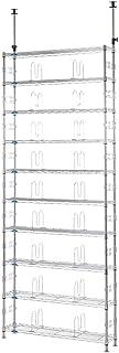 ルミナス フィールシリーズ ポール径19mm テンション(つっぱり)ラック 10段 幅93×奥行23×高さ220-280cm MD90-10T