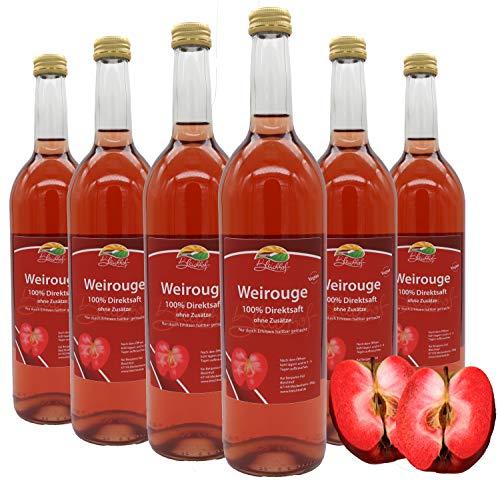 Bleichhof Apfelsaft Weirouge - 100% Direktsaft, naturrein und vegan, OHNE Zuckerzusatz, 6er Pack (6x 0,72l)