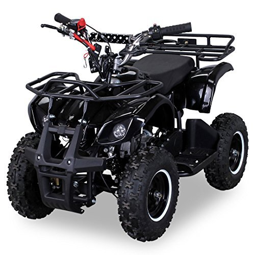 Kinder Miniquad TORINO 49 CC MOTOR 2 Takt ATV Pocket Quad Kinderquad Kinderfahrzeug (Schwarz)