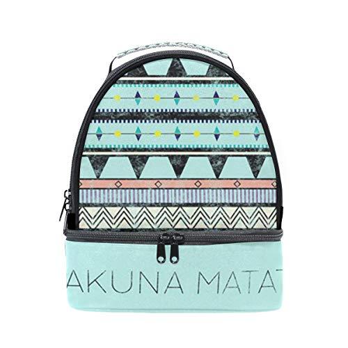 Bolso de almuerzo doble de hombro Hakuna Matata Vintage Cooler correa ajustable para picnic