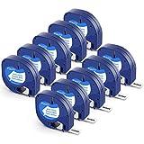Invoker–Cintas de Etiquetas compatible para usar en lugar de Dymo LetraTag 91201 S0721610 Plástico Cassette Recambio 12mm x 4m, para LT-100H LT-100T LT-110T QX 50 XR XM,Negro sobre Blanco,pack de 10