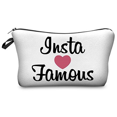 Federmäppchen Kosmetiktasche Federtasche Stiftemappe Make Up Täschchen Full Print All Over Bag Fresh Instagram Famous [009]