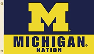NCAA Michigan Wolverines 3-by-5 Foot Nation Flag With Grommets