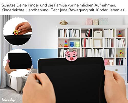 (3er Set) Webcam Abdeckung, Laptop Kamera Abdeckung, Webcam Cover, Smiley Camera Cover für Laptop, Emoticon Privacy Cover, Notebook und Tablet im 3D Emoji Design von hidemonkeys