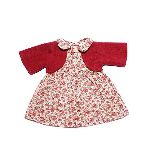 YaToy Ropa de Teddy Bear Faldas Vestido y Camisas Rojo Lindo niña Juguetes