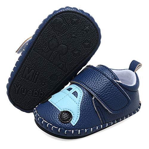 Scurtain Unisex Baby Boys Girls Sneakers Baby Boys Girls Sneaker Baby Girls Boys Walking Shoes Baby Slippers Baby Shoes Baby Walking Shoes Baby Walker Dark Blue Car 9-15 Months