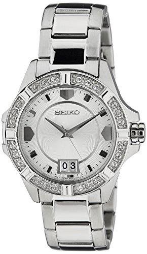 Seiko Lord Analog White Dial Women's Watch - SUR809P1