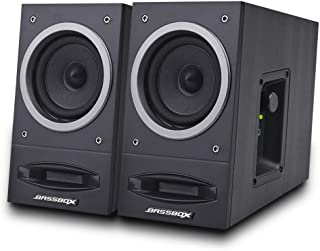 Computer Speakers with Heavy bass for Laptop, Desktop, Mac,2.0 Stereo Wired pc Speakers with Headphone Jack, USB Powered Multimedia Speakers for Home Theater and Gaming,10W, BASSBOX 060