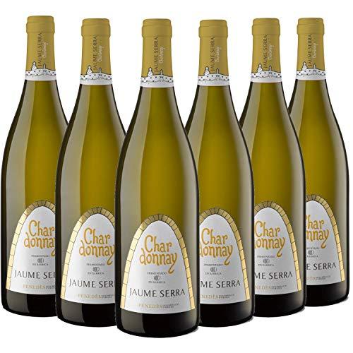 Jaume Serra Vino Chardonnay D.O. Penedès - Paquete de 6 Botellas de 0.75 l - Total: 4.5 l