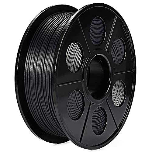 Carbon Fiber PLA Filament 1.75mm 3D Printer Filament, Dimensional Accuracy +/- 0.03 mm, 0.5kg or 1kg Spool, Really Carbon Fiber-infill, Black-Carbon black 0.5kg_1.75mm