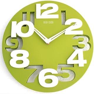 Moderno reloj de pared decoración cocina Baduhr de muñeca Country Club LKU-verde, New