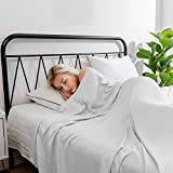 Hughapy Cooling Blanket, King Size 100% Bamboo Blanket for Hot Sleepers, Ultra-Cool Blanket Absorbs Body Heat to Keep Cool on Warm Night, All-Season Bed Couch Travel Blankets (90x108 inch, Grey)