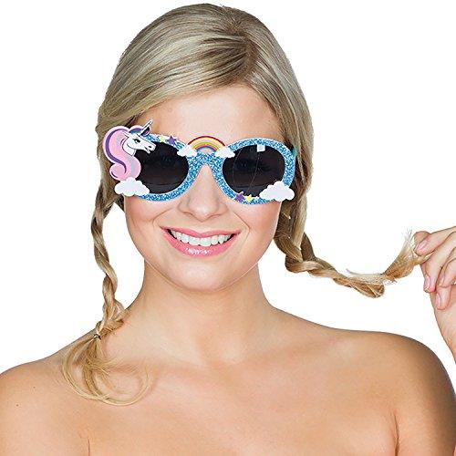Rubie's Einhorn Brille Einheitsgröße Spaßbrille Unicorn Party Festival Fasching Karneval