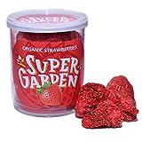 Supergarden fresa orgánica liofilizada - Snack saludable - Producto 100% puro y natural - Apto para veganos - Sin azúcares, aditivos artificiales ni conservantes añadidos - Sin gluten - No OMG