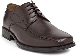 NOBLE CURVE Leather Derby Shoes with Toe Stitch