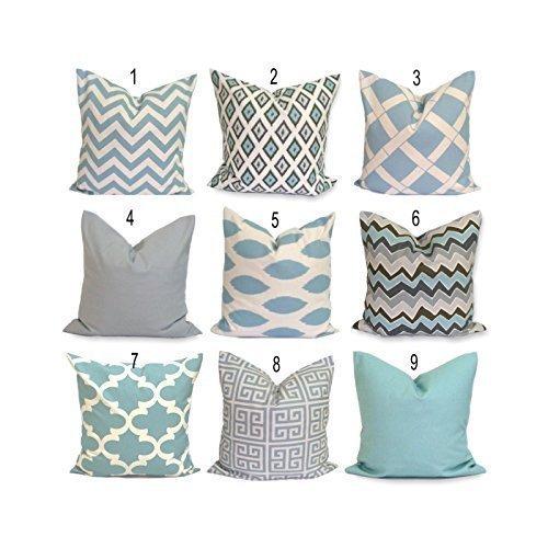 Amazon.com: Robin's Egg Blue Pillow Cover, Spa Blue Pillow