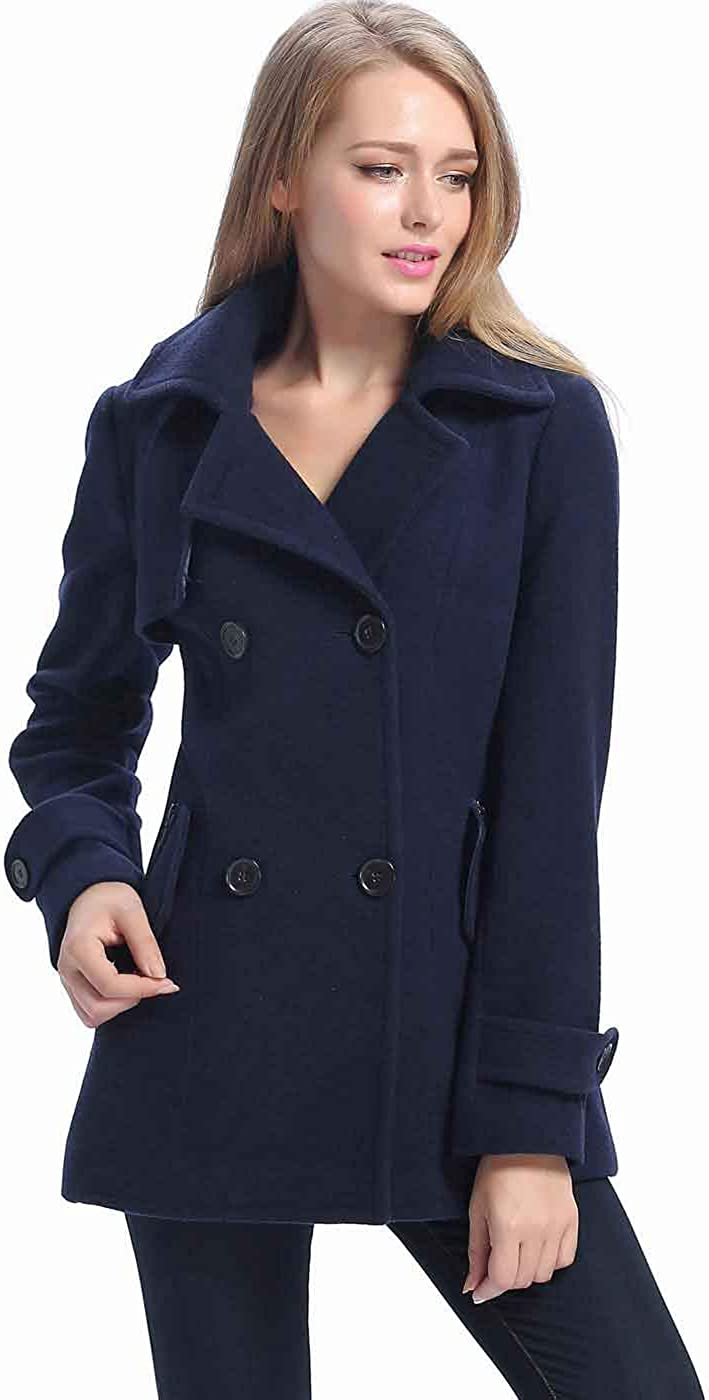 BGSD Women's Piper Very popular Wool Blend Pea Size Coat Regular Sho Plus 70% OFF Outlet