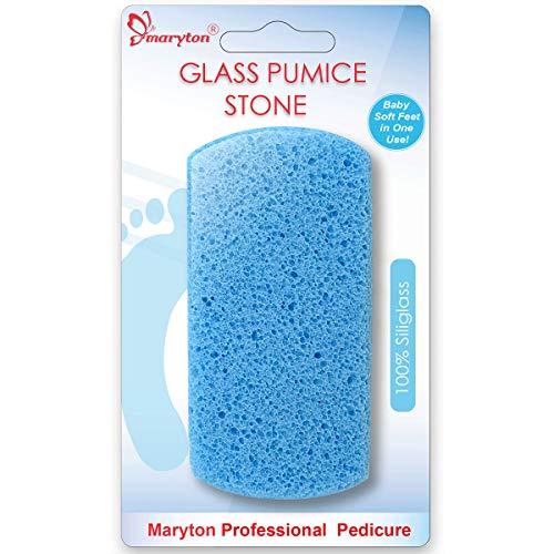 Maryton Double Sided Pumice Stone for Feet Hard Skin 100% Siliglass Callus Remover, Exfoliates Feet & Smooths Skin