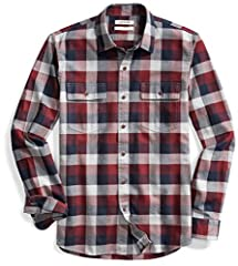 This weekend-perfect casual button-front shirt in plaid herringbone fabric features double button-through chest pockets. Made in our Signature Tumbled Cotton for a soft, yet sturdy, hand. We utilize a unique Heritage Wash to give our garments a custo...